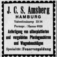 J.C.S. Amsberg Anzeige